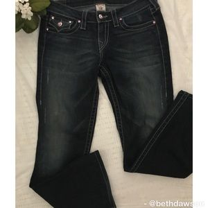 🆕True Religion Boot Cut Embellished Jeans Size 29